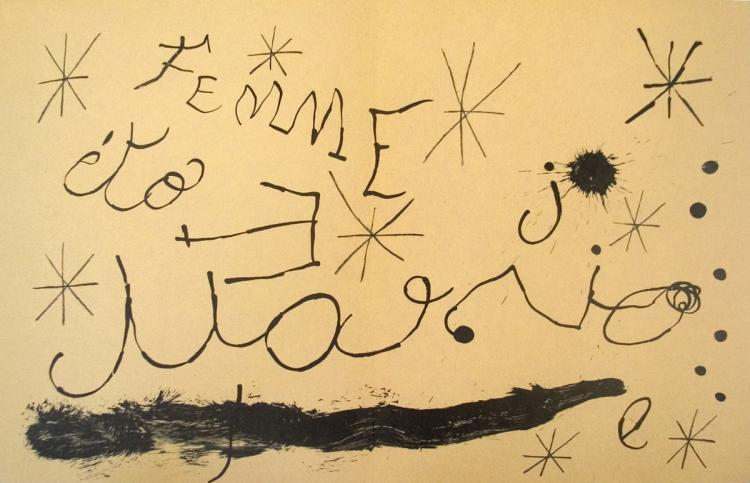 Joan Miro - Derriere le Miroir, no. 151-152, pg 18,19 - 1965
