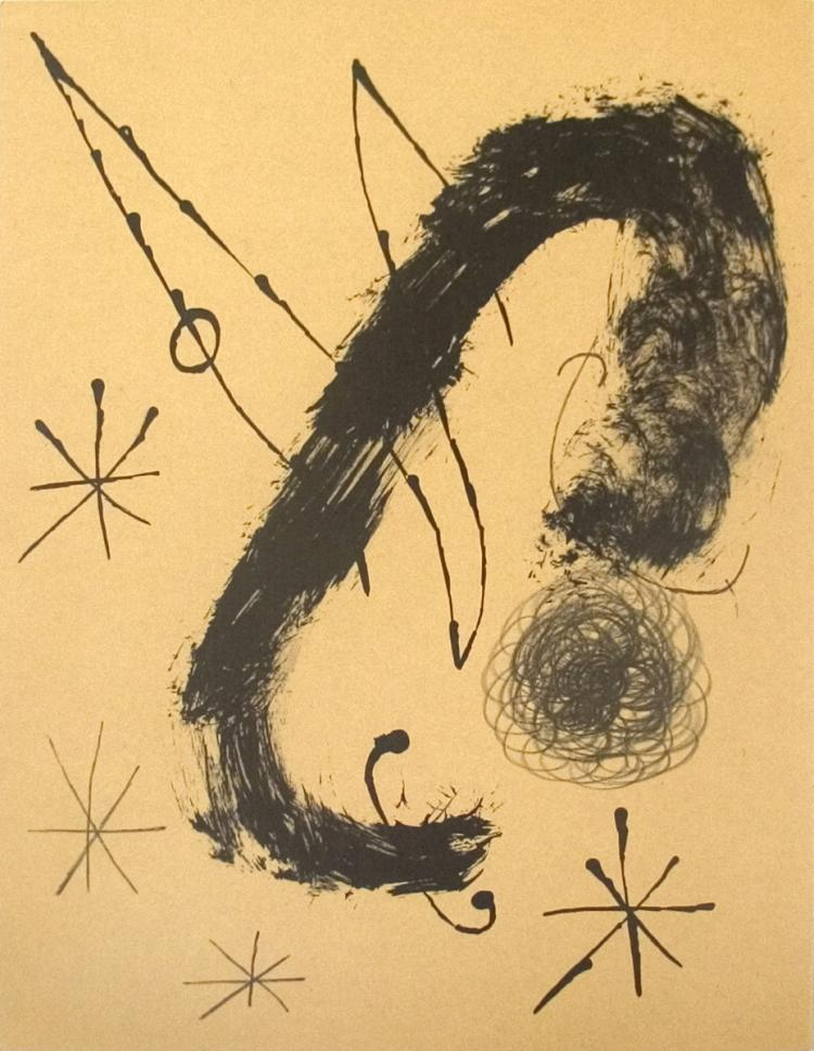 Joan Miro - Derriere le Miroir, no. 151-152, pg 20 - 1965