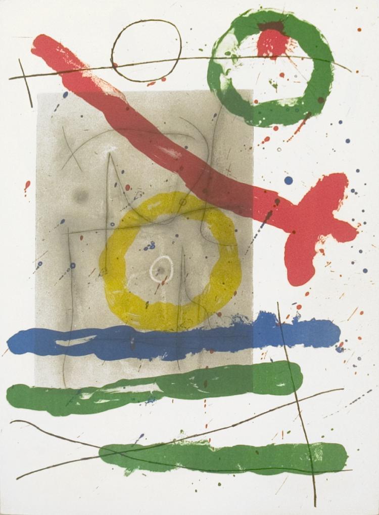 Joan Miro - Derriere le Miroir, no. 151-152, pg 22 - 1965