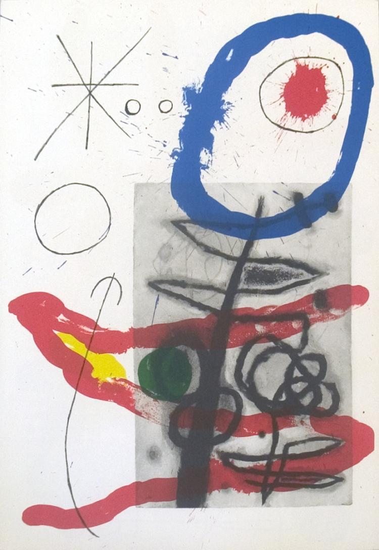 Joan Miro - Derriere le Miroir, no. 151-152, pg 23 - 1965