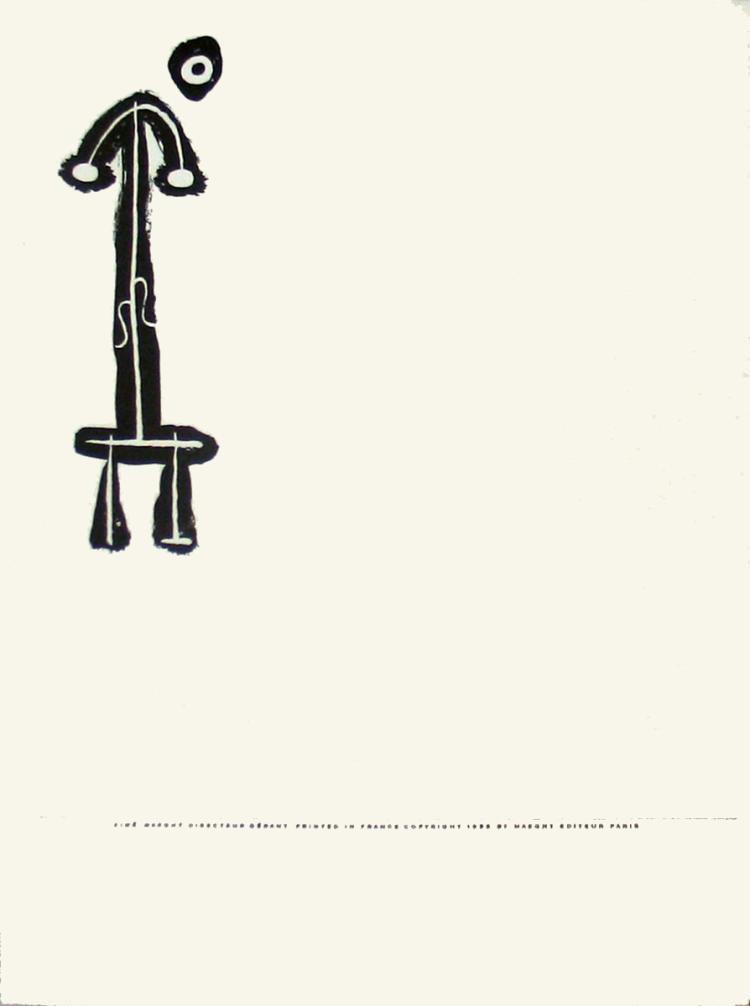 Joan Miro - Derriere le Miroir, no. 87-88-89, pg 2 - 1956