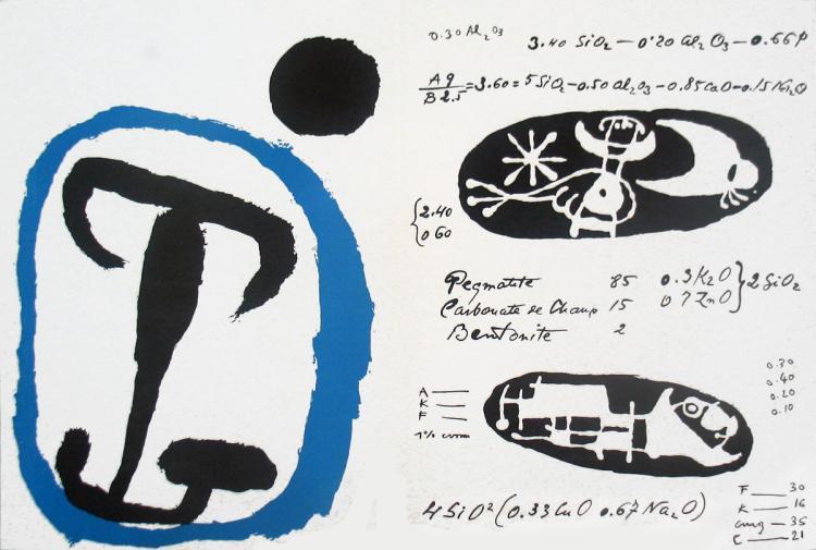 Joan Miro - Derriere le Miroir, no. 87-88-89, pg 4,9 - 1955