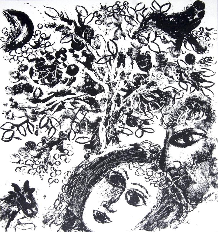 Marc Chagall - Couple Beside Tree - 1963