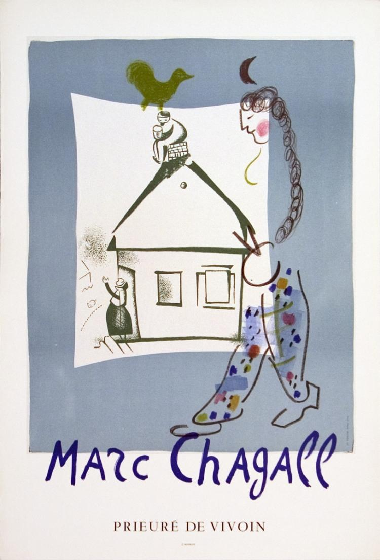 Marc Chagall - The House In My Village - 1969