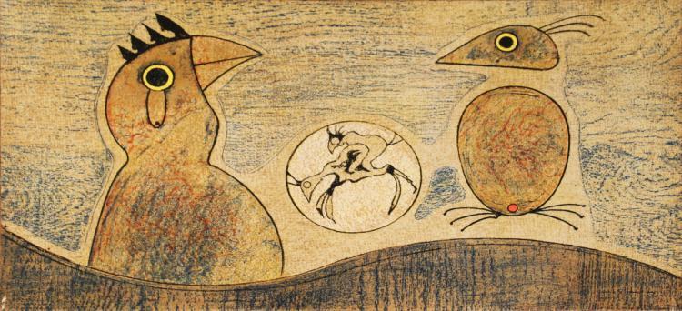Max Ernst - Composition in Ochre