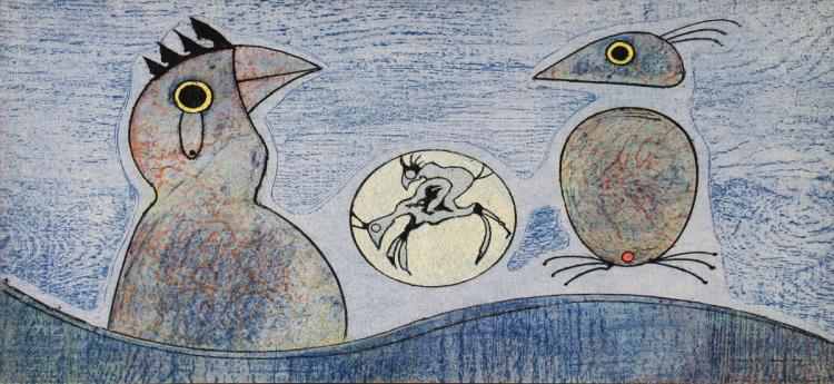 Max Ernst - Composition in Blue