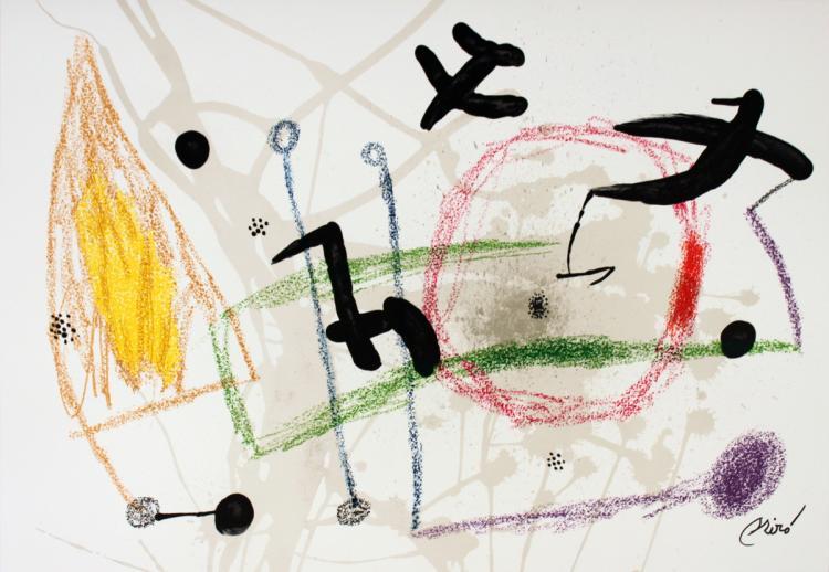 Joan Miro - Maravillas #1057 - 1975