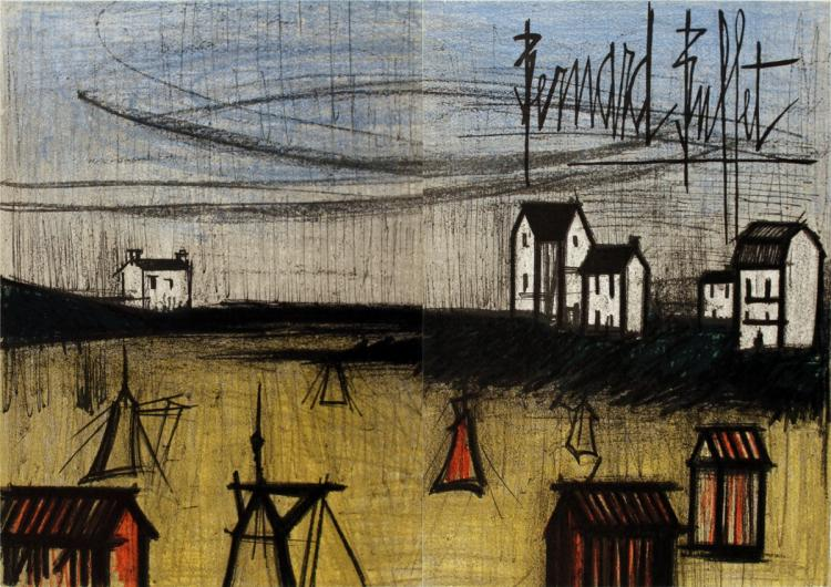 Bernard Buffet - The Small Beach (dyptich) - 1966