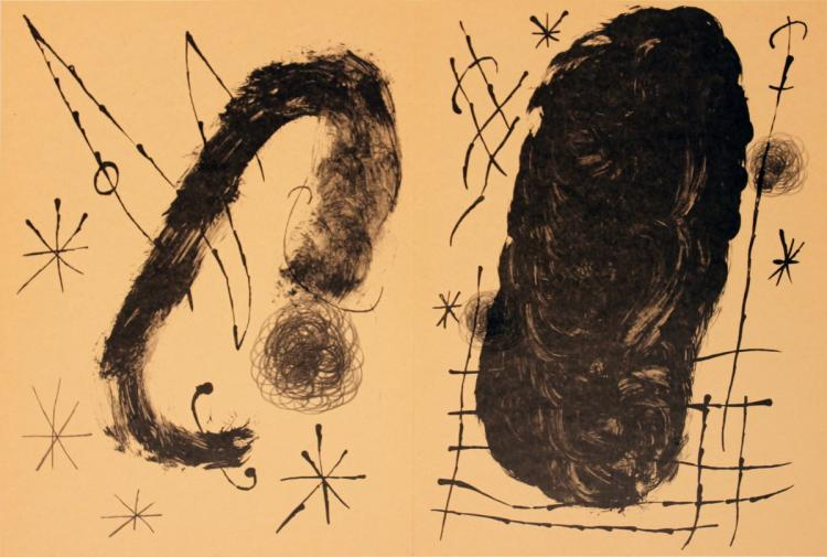 Joan Miro - Derriere le Miroir, no. 151-152, pg 18,19 (Double page)