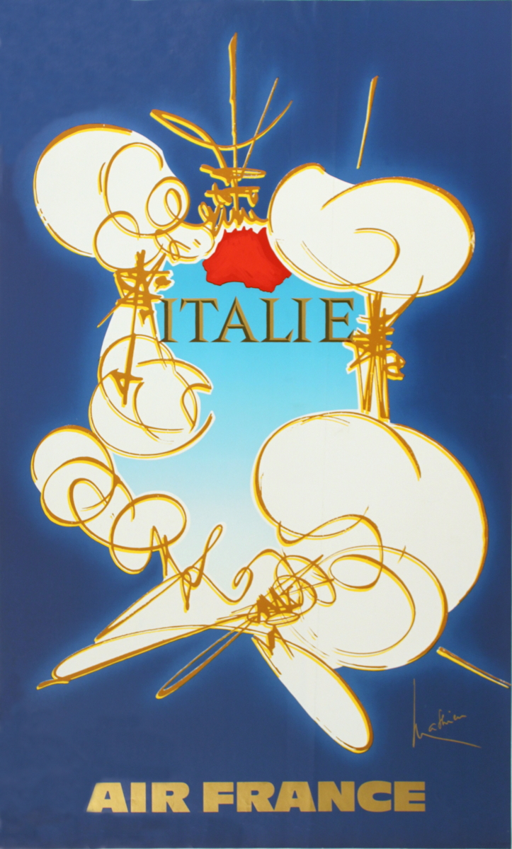 Georges Mathieu - Air France: Italie - 1971