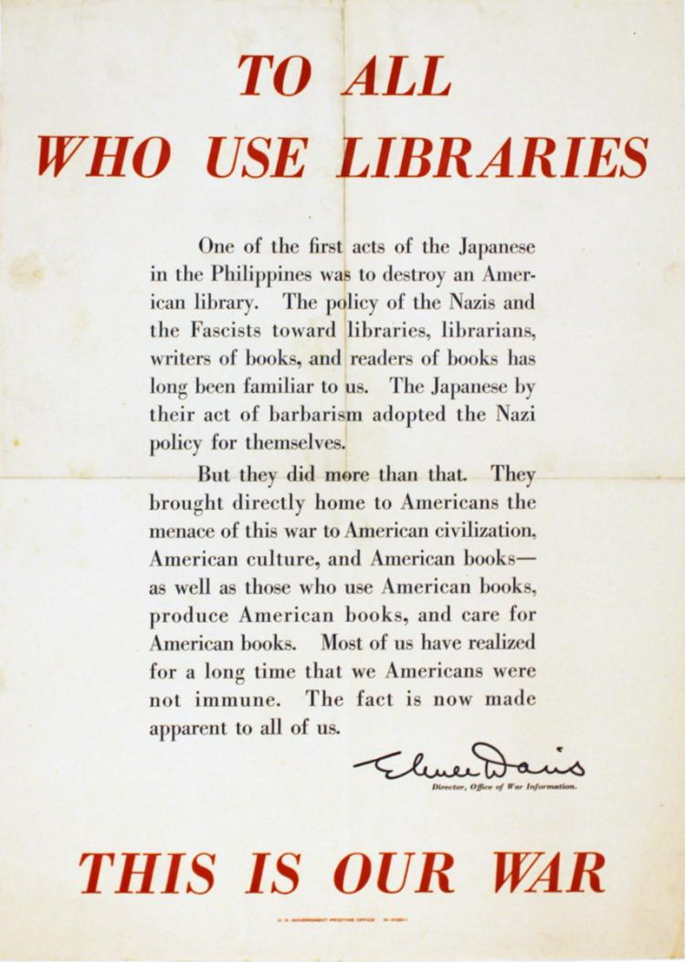 Elmer Davis Librarian Quote