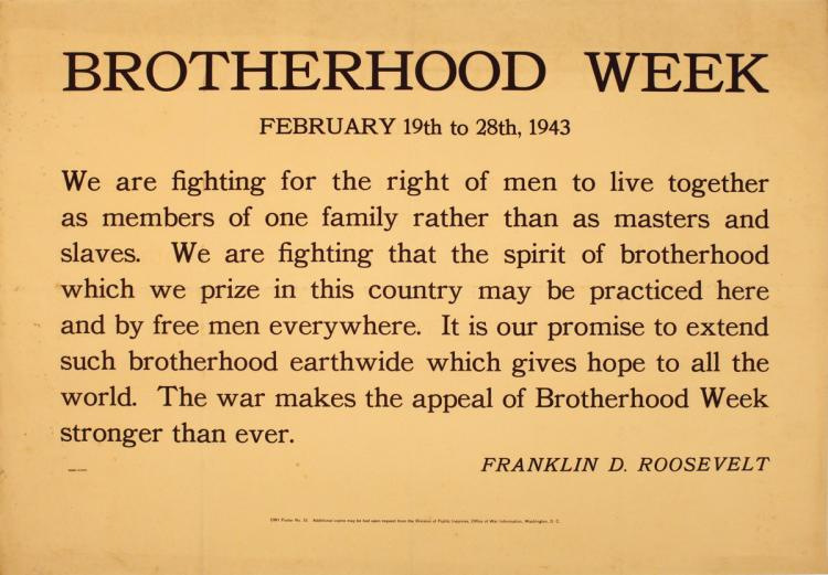Brotherhood Week - 1943