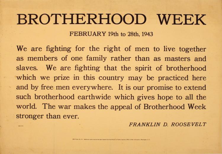Brotherhood Week - 1943