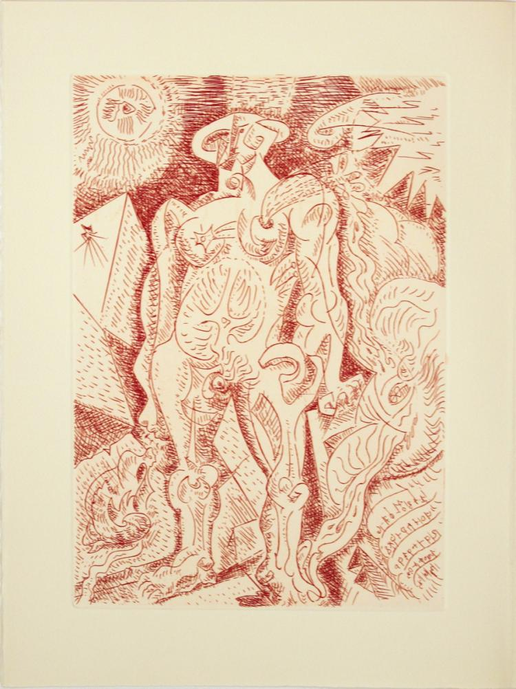 Andre Masson - Le Septieme Chant - 1974