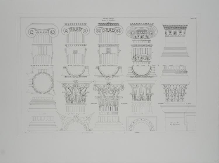 Leonardo Da Vinci - Details Grecs, Bases et Chapiteaux