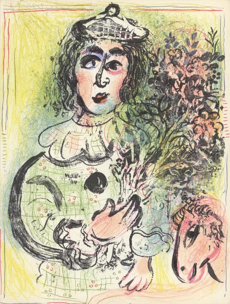 Marc Chagall - Clown with Flowers - 1963