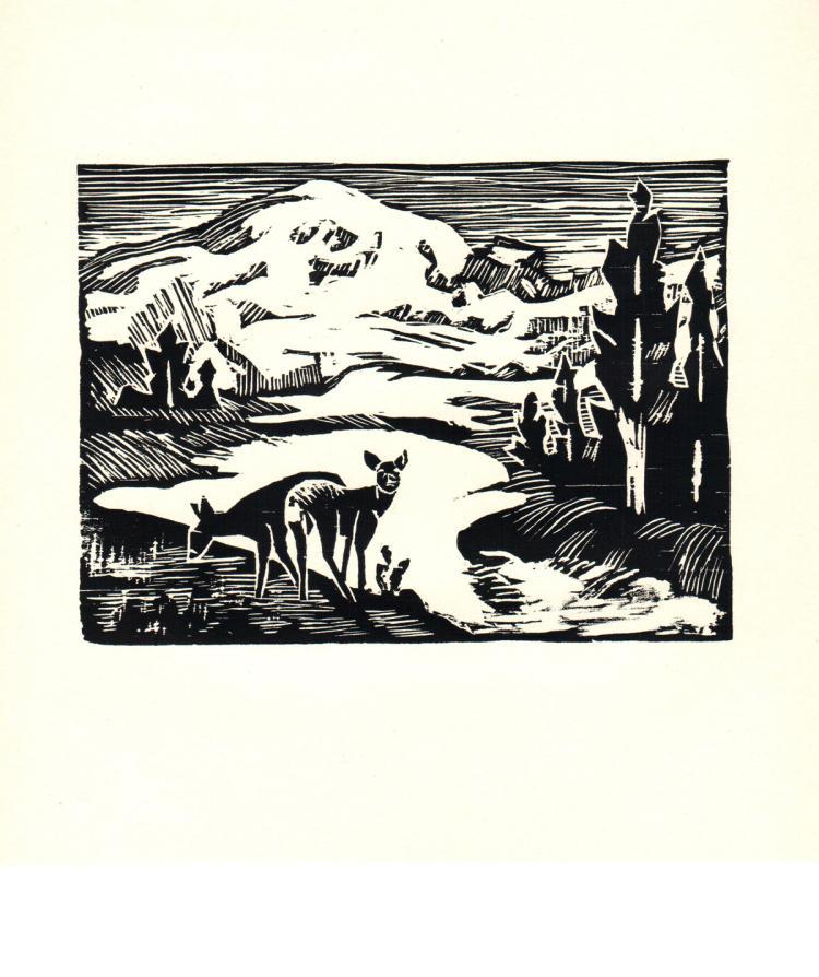 Ella Sophonisba Hergesheimer - Mount Rainer - 1939