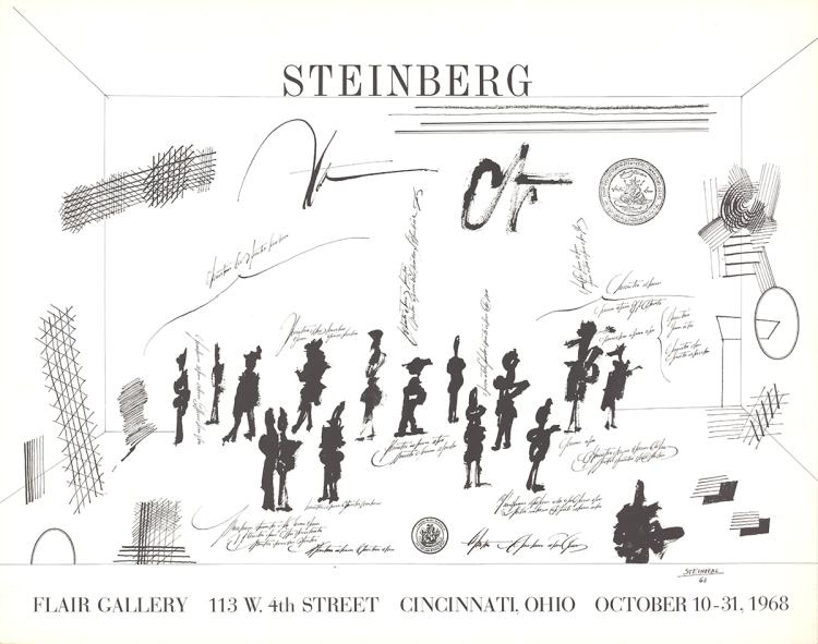 Saul Steinberg - Flair Gallery - 1968