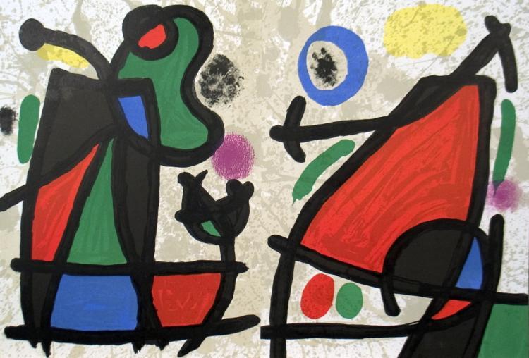 Joan Miro - Derriere le Miroir, no. 186, pg 2,7 - 1970