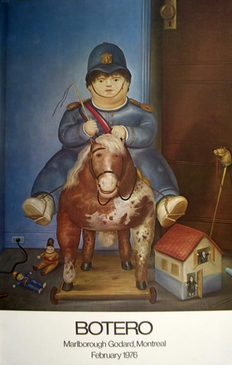 Fernando Botero - Child on Horse - 1975