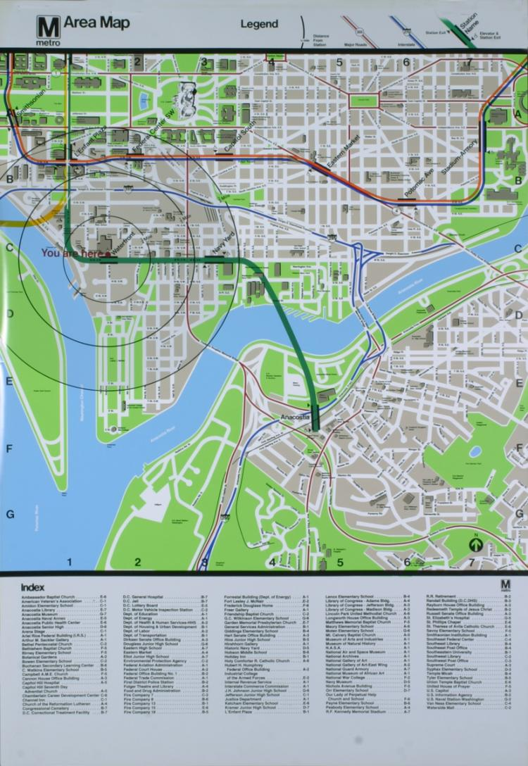 Washington DC Area Map of the Smithsonian Museum
