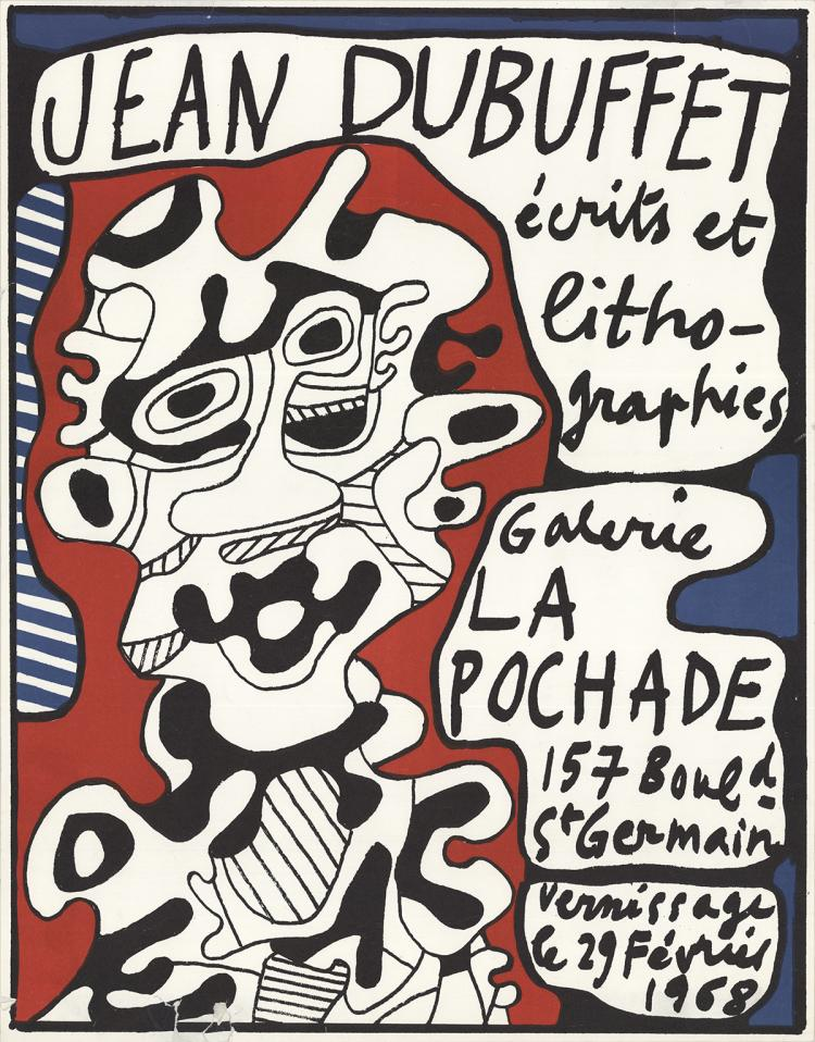 Jean Dubuffet - Ecrits et Lithographies, Galerie La Pochade - 1968