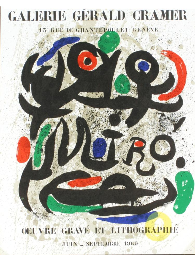 Joan Miro - Oeuvre Grave Et Lithographie - 1969