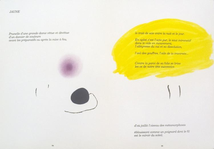 Joan Miro - Derriere le Miroir, no. 193-194, pg 24,25 - 1971