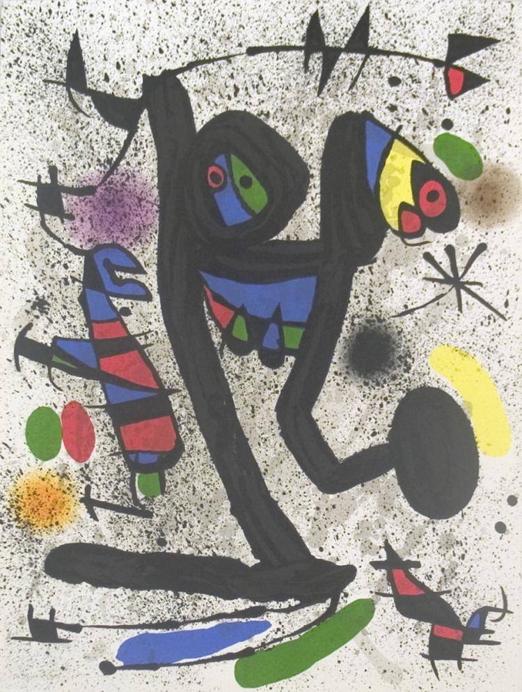 Joan Miro - Young woman with butterflies - 1971