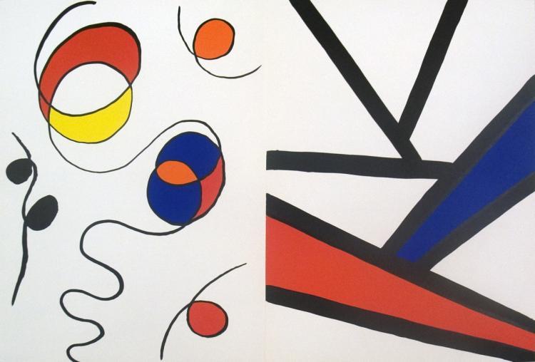 Alexander Calder - Derriere le Miroir no.173 page - 1968