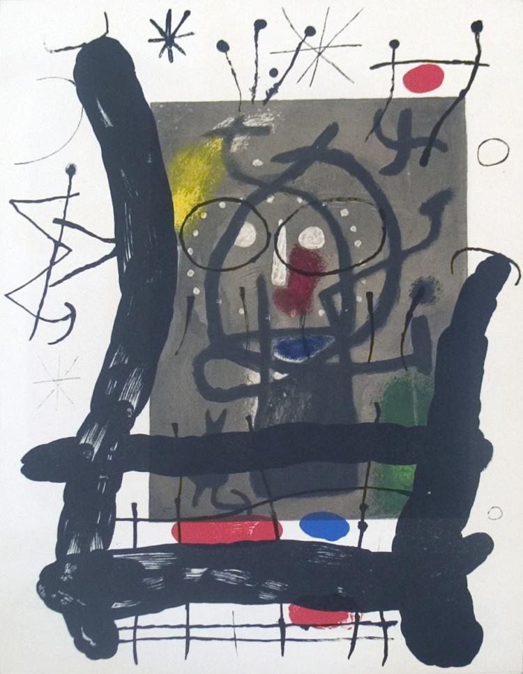 Joan Miro - Derriere le Miroir, no. 151-152, pg 25 - 1965