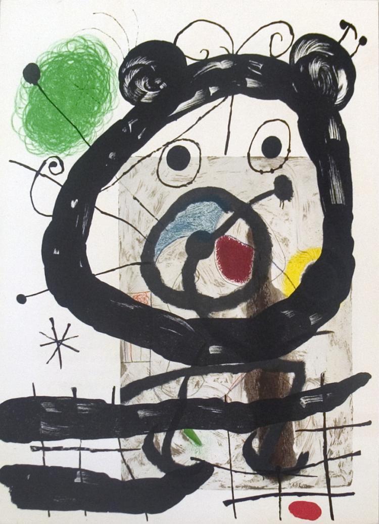 Joan Miro - Derriere le Miroir, no. 151-152, pg 28 - 1965