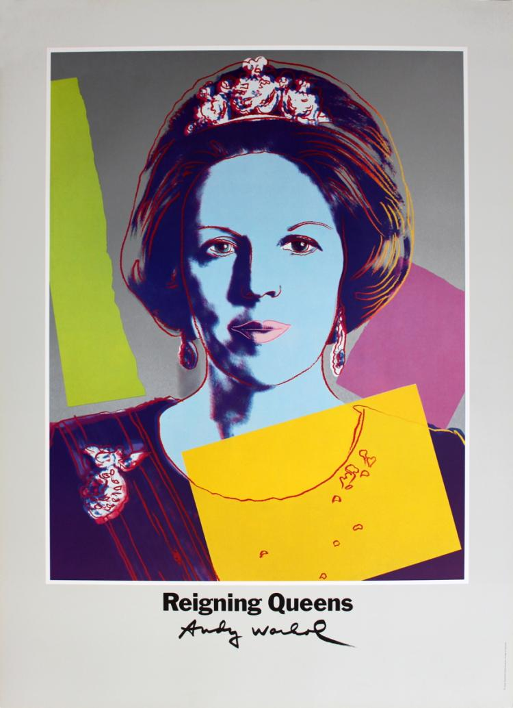 Andy Warhol - Queen Beatrix of the Netherlands, from Reigning Queens - 1986