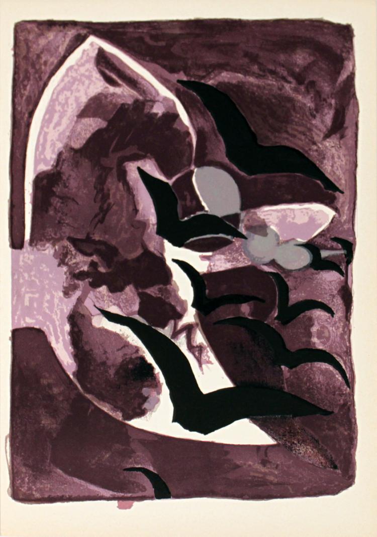 Georges Braque - Les Oiseaux de Nuit - 1964