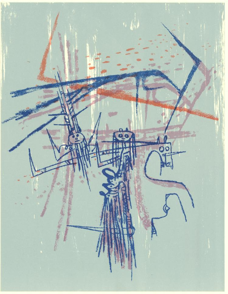 Wifredo Lam - Les Affinites Ambigues - 1961