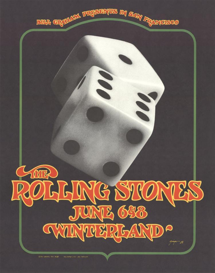 Bill Graham - The Rolling Stones, June 6&8, Winterland