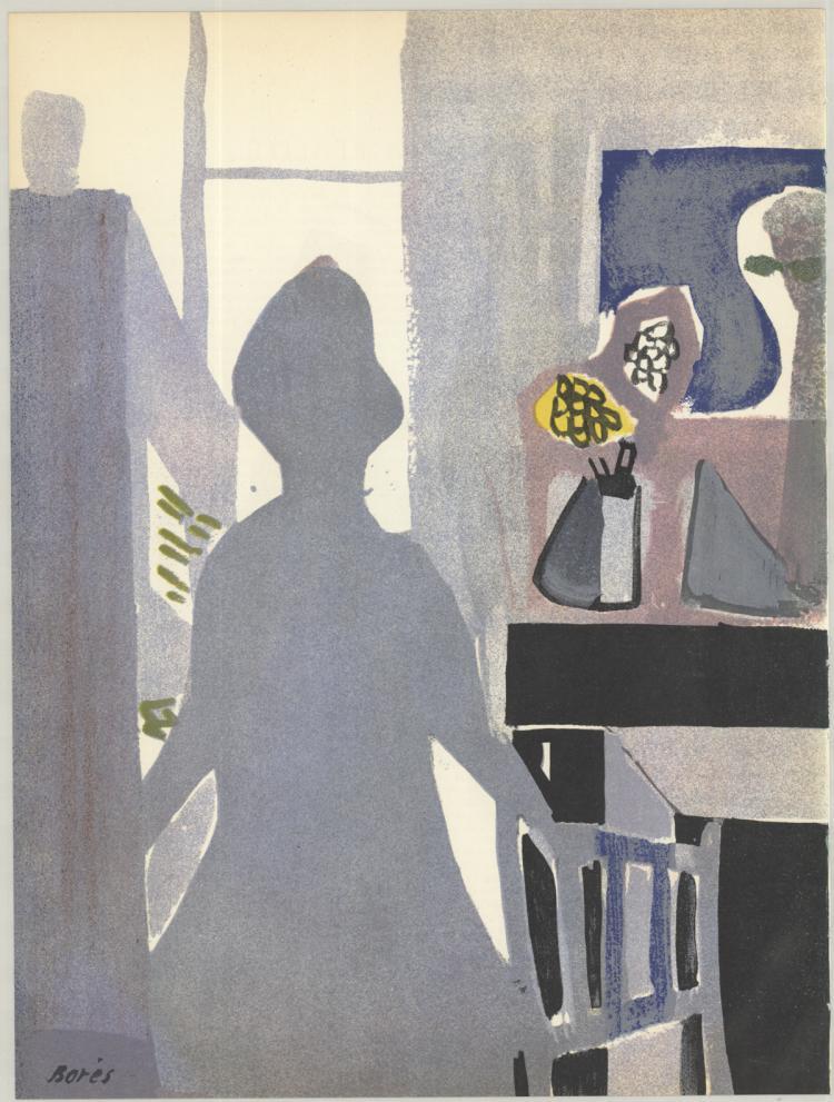 Francisco Bores - La Femme en Bleu - 1953