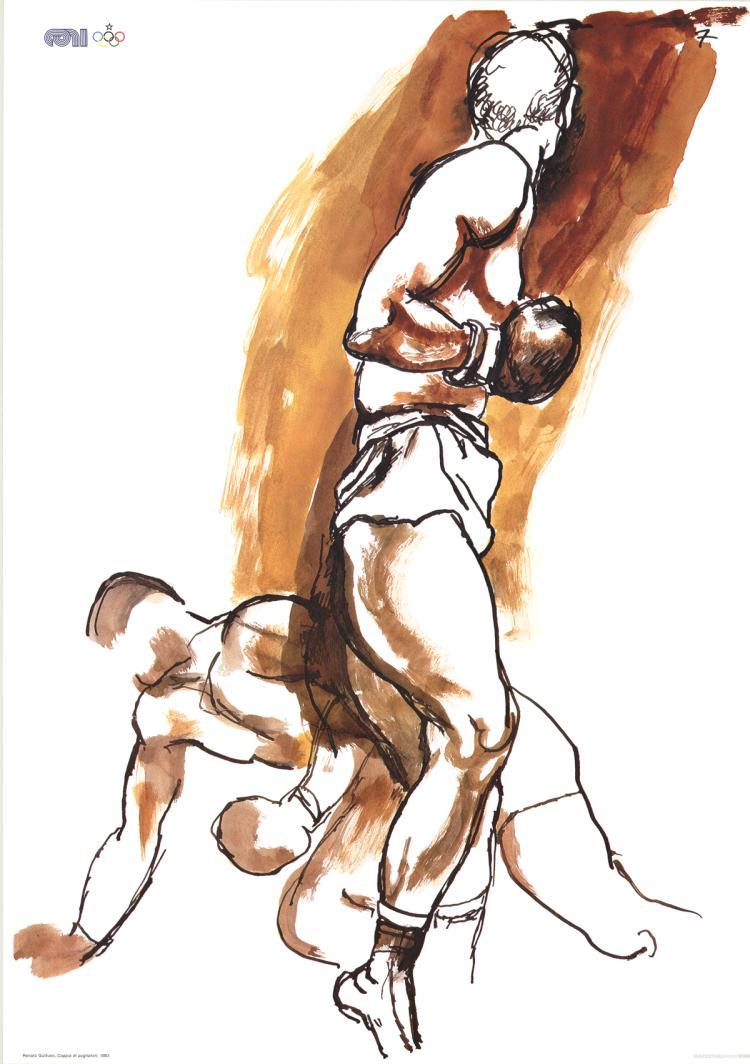 Renato Guttuso - Two Boxers - 1983