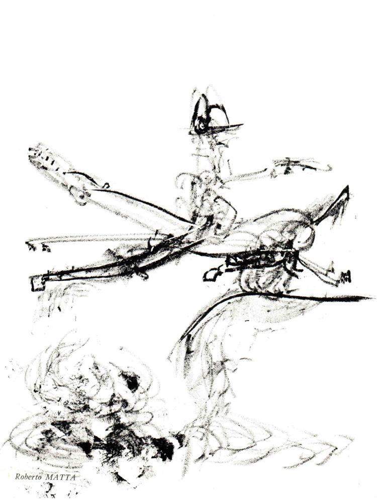 Roberto Matta - Untitled composition - 1967