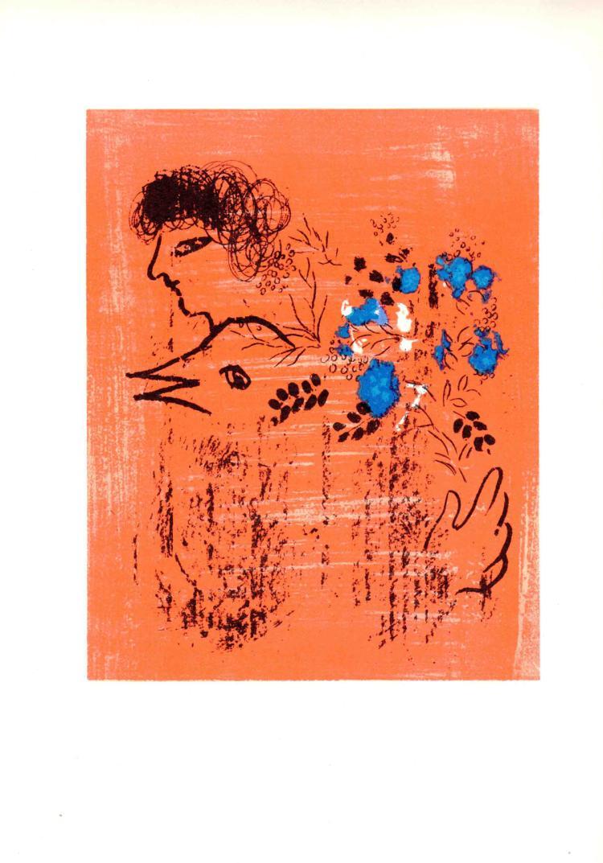 Marc Chagall - Bouquet a l'Oiseau - 1963
