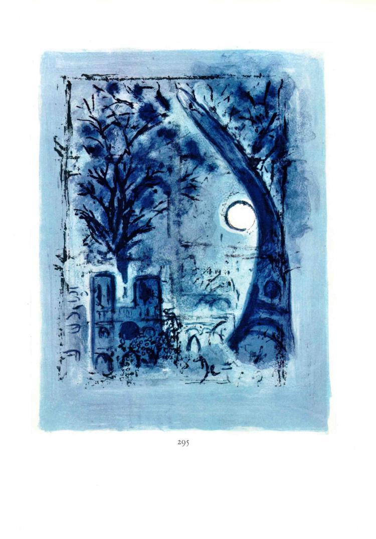 Marc Chagall - Notre-Dame et la Tour Eifel - 1963