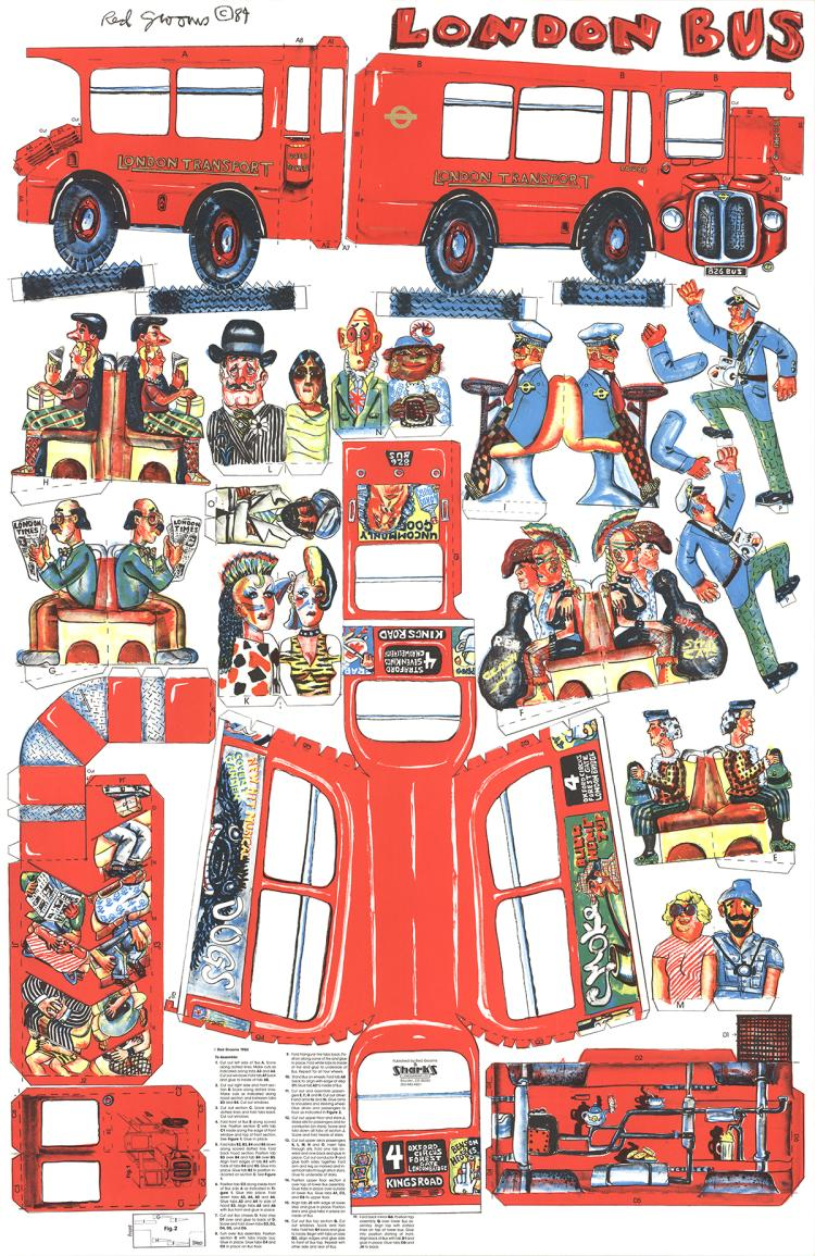 Red Grooms - London Bus - 1984