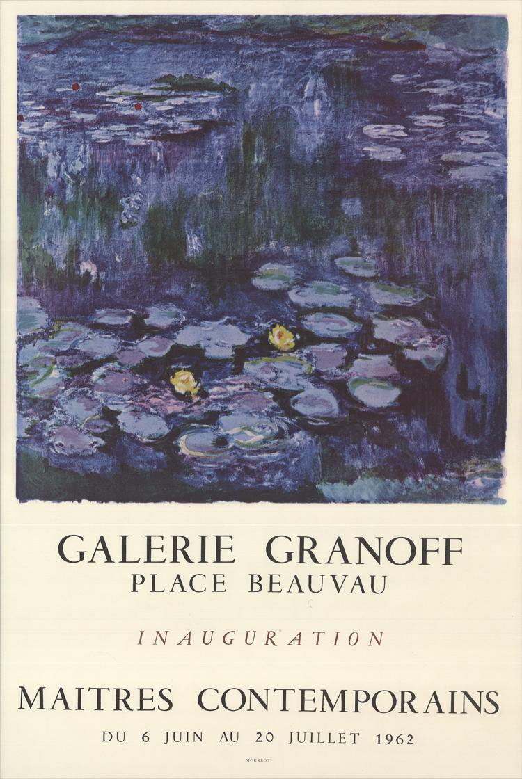Claude Monet - Galerie Granoff - 1962