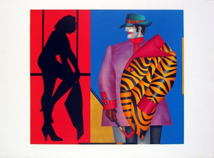Richard Lindner - Purple Jacket - 1975