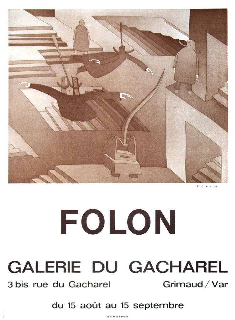 Jean-Michel Folon - Galerie Du Cacharel - 1972