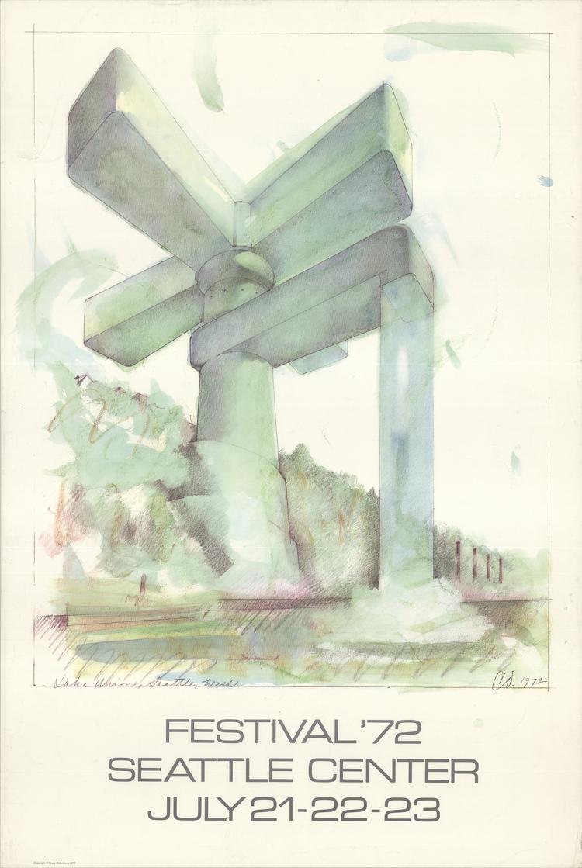 Claes Oldenburg - Lake Union Seattle Festival - 1972