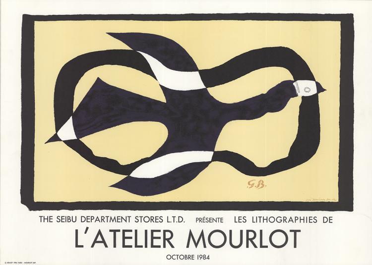 Georges Braque - Oiseau Traversant un Nuage - 1984