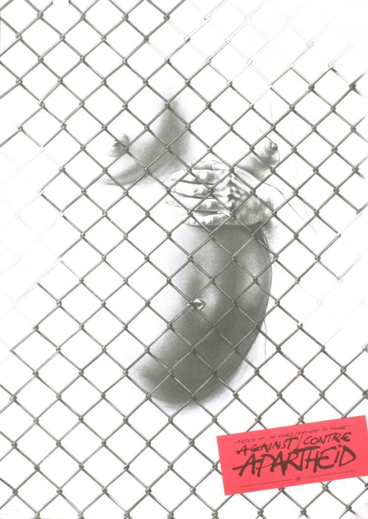 Ernest Pignon-Ernest - Against Apartheid