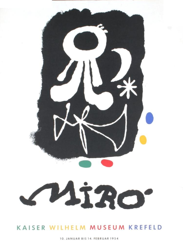 Joan Miro - Kaiser Wilhelm Museum - 1954