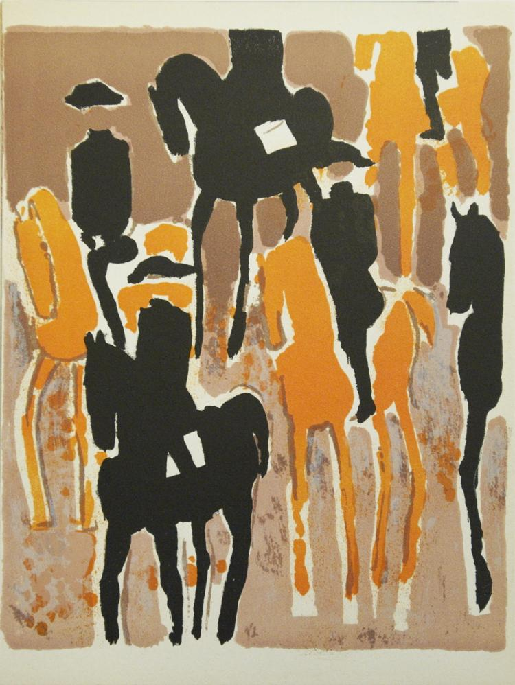 Andre Brasilier - Le Cadre Noir - 1964